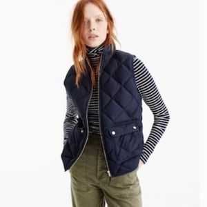 • J. Crew • excursion quilted down puffer vest